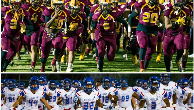 Mountain Pointe and Chandler face off in Saturday's 6A conference title game.