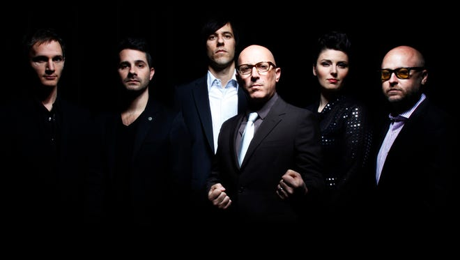 Maynard James Keenan, fourth from left, with the latest edition of Puscifer.