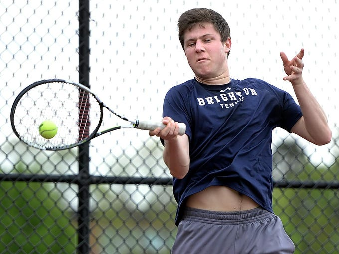 Brighton's Josh Marvald plays in the doubles final