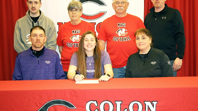 Katie Walls, Colon graduate, will continue her academic and softball careers with Crown College.