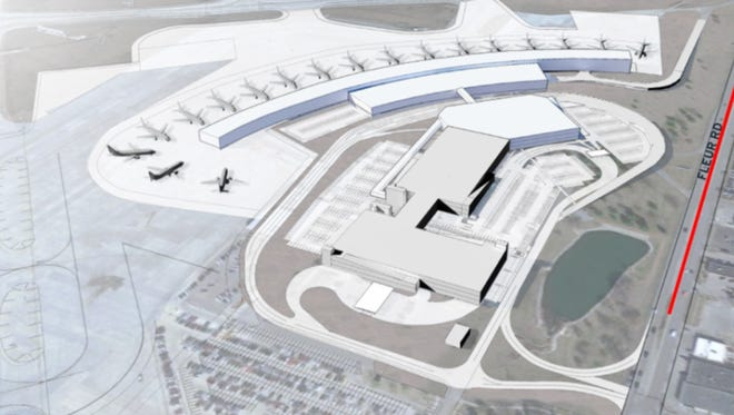 The Des Moines International Airport has proposed building a new terminal on the east side of the airfield, near the existing terminal. The project would require the relocation of several other airport facilities and is projected to cost roughly $500 million.