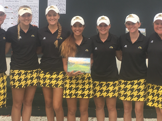 The Southern Miss women's golf team broke a pair of