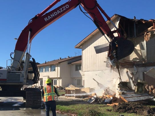 Demolition at the new Castroville FLC location.