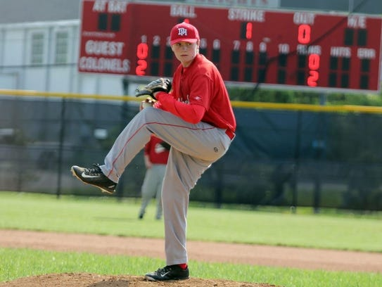 J.C. on the pitching mound.