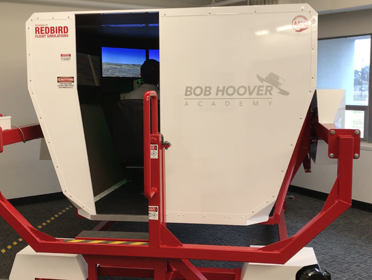 The Redbird FMX Simulator at the Bob Hoover Academy.