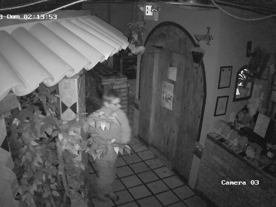 A suspect in the Sunday morning burglary of the Salsa's