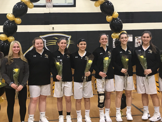 Cedar Grove honored its seven senior players and two