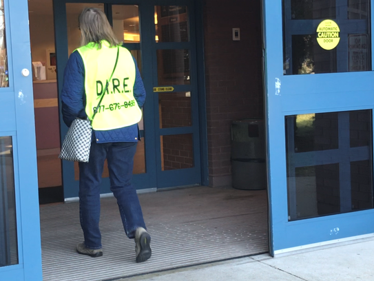 A volunteer guard for the Deportation and Immigration