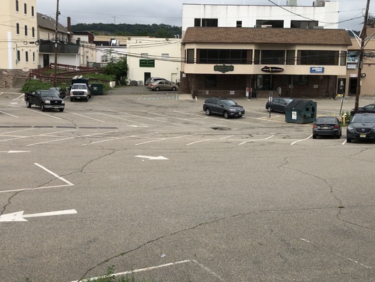 The Pond Hole Parking Lot off Babcock Place in Pompton