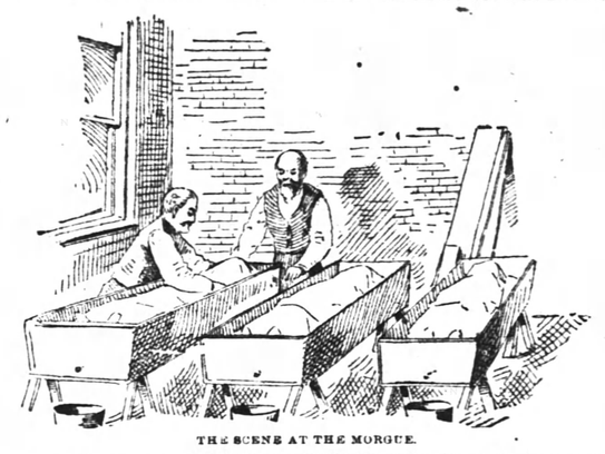 Illustration in the Oct. 16, 1889 Enquirer of morge