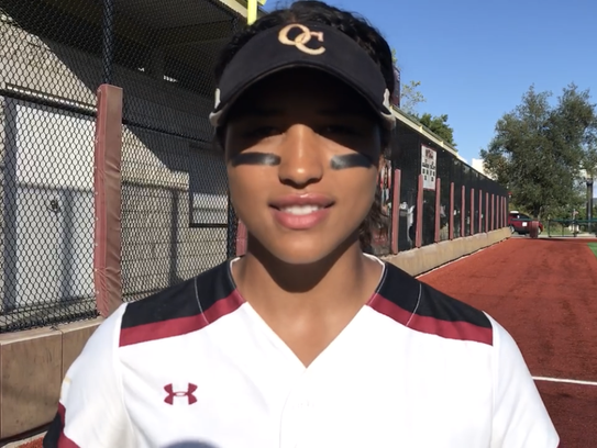 Oaks Christian shortstop Maya Brady