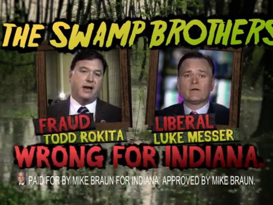 Screenshot of GOP Senate candidate Mike Braun's ad
