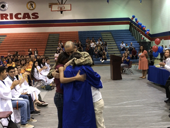 Americas High senior Tyrae Collins didn't expect her