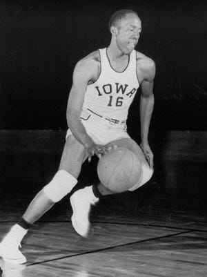 """Former Freeport All-Stater McKinley """"Deacon"""" Davis finished eighth in the Big Ten in scoring (14.9 points) as a sophomore in 1953 and third in schooting percentage (.463) as a senior for Iowa's 1955 Final Four team."""