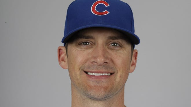 This is a 2020 photo of Tommy Hottovy of the Chicago Cubs baseball team. This image reflects the 2020 active roster as of Tuesday, Feb. 18, 2020, when this image was taken in Mesa, Ariz. (AP Photo/Gregory Bull) ORG XMIT: AZGB