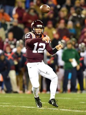 Virginia Tech quarterback Michael Brewer