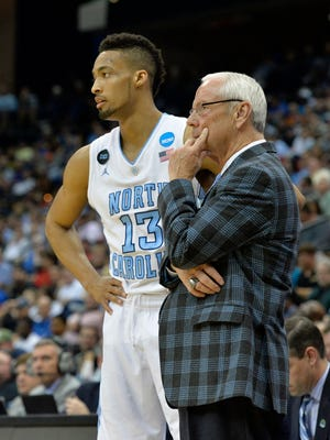 UNC's J.P. Tokoto and Roy Williams.
