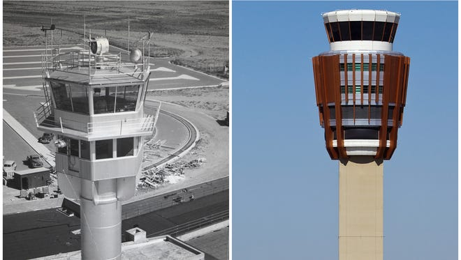 """Phoenix Sky Harbor International Airport has grown from an isolated, rural airfield nicknamed """"The Farm"""" to a three-terminal international hub. See a timeline of how the airport has grown from its early and modest start."""