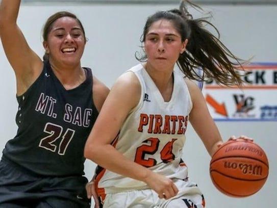 Ventura College sophomore Celeste Salazar drives to