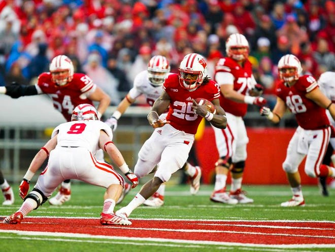 Wisconsin running back Melvin Gordon during the second half of Wisconsin's victory over IU last week. (AP Photo/Andy Manis)