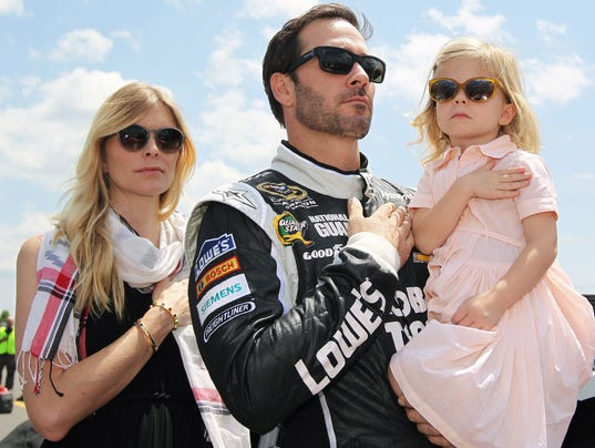 jimmie johnson baby drama could unfold in chase