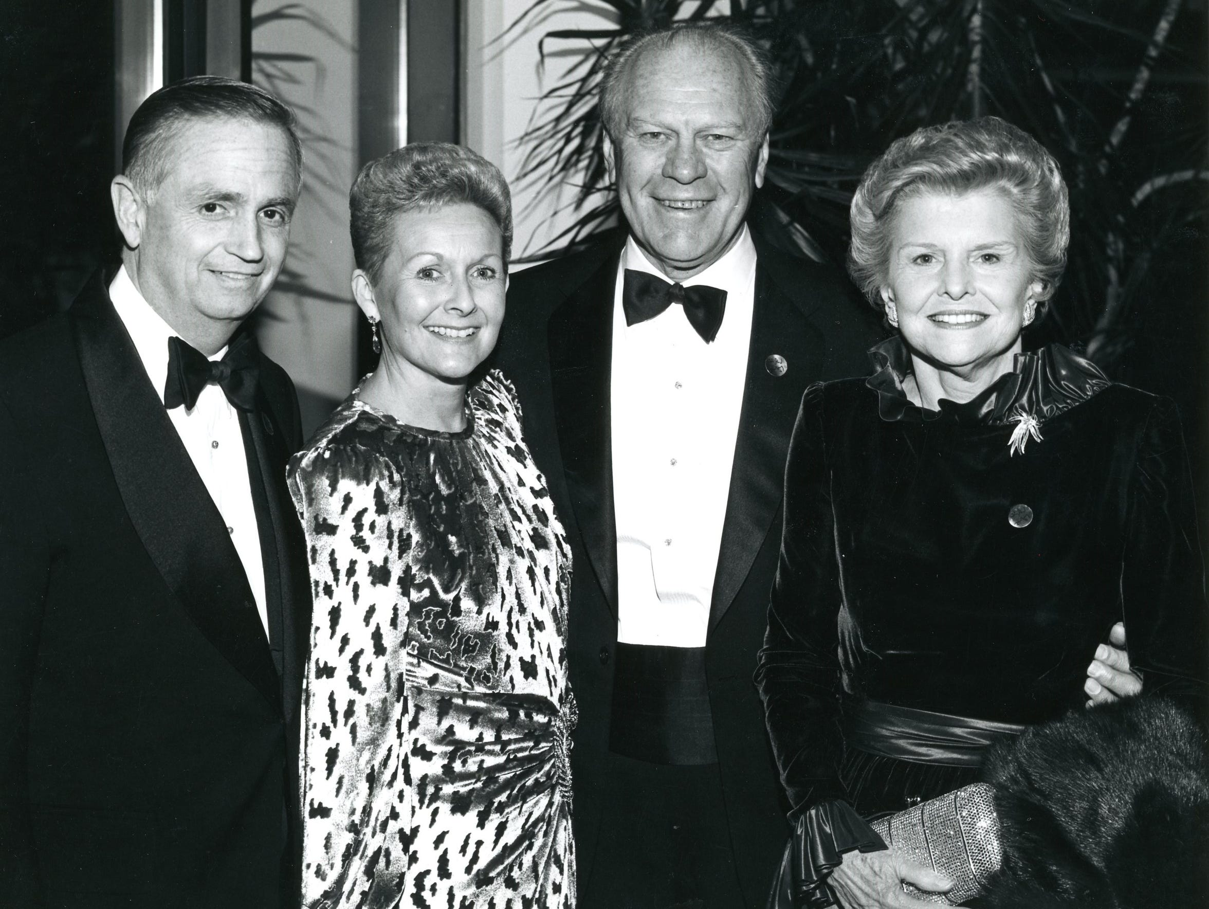 William Marriott Jr. and Donna Gaff Marriott with President
