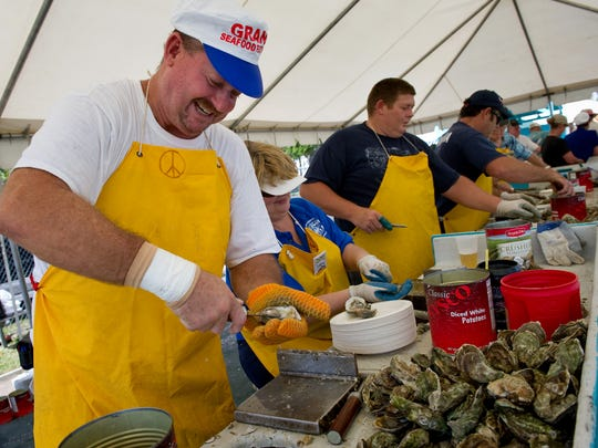 The Grant Seafood Festival opens from 9 a.m. to 7 p.m. Saturday and 9 a.m. to 5 p.m. Sunday at the Grant Community Center.