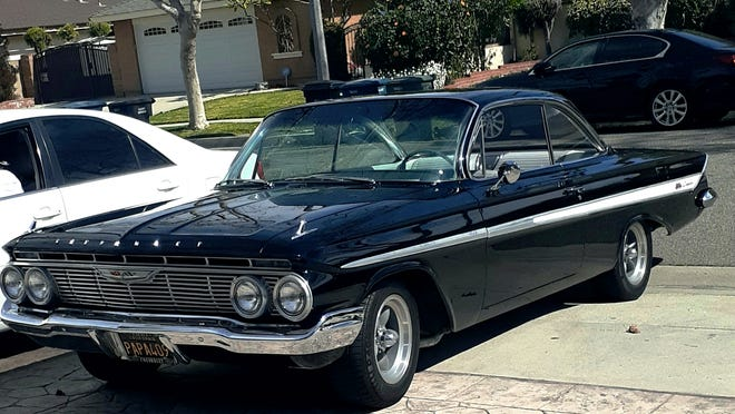 Fernando Soto owns this beautiful 1961 Impala SS with a 1962 409 under the hood. The SS option was available on all Impala models back then for just $58.80 more.