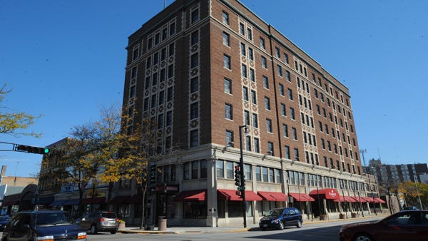 The Retlaw Plaza Hotel, 1 N. Main St., is scheduled to be sold at auction in 11 days.