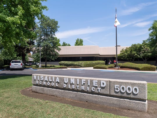 Visalia Unified School District offices on West Cypress