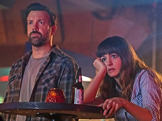 "Jason Sudeikis and Anne Hathaway star in ""Colossal."""