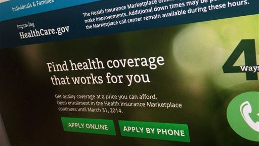 This 2013 file photo shows a part of the HealthCare.gov website. The administration is warning hundreds of thousands of consumers they risk losing taxpayer-subsidized health insurance unless they act quickly to resolve issues about their citizenship and immigration status.