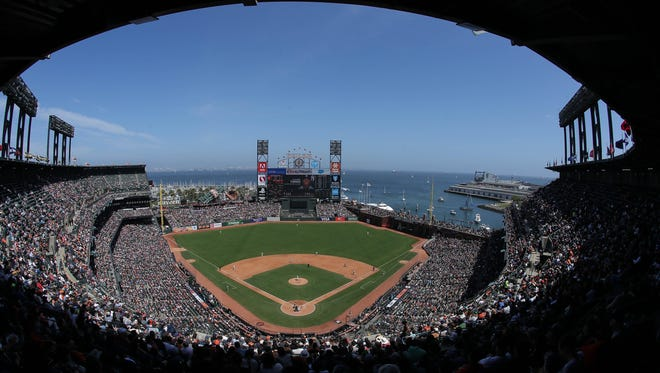 A general view of Oracle Park during the fourth inning between the New York Yankees and the San Francisco Giants at Oracle Park.