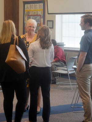 Dr. Deborah Hamm was honored with a reception Thursday afternoon at the McKinley Administration Center. Hamm is retiring after eight years at the Newton school district superintendent.