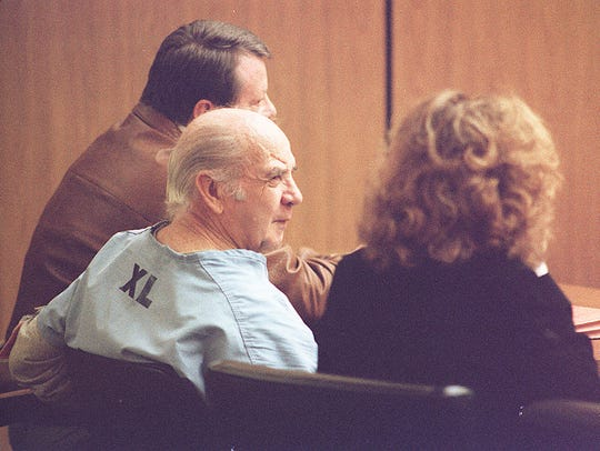 1993: James Robison in court after being found not