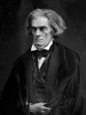 John C. Calhoun photographed in 1849.