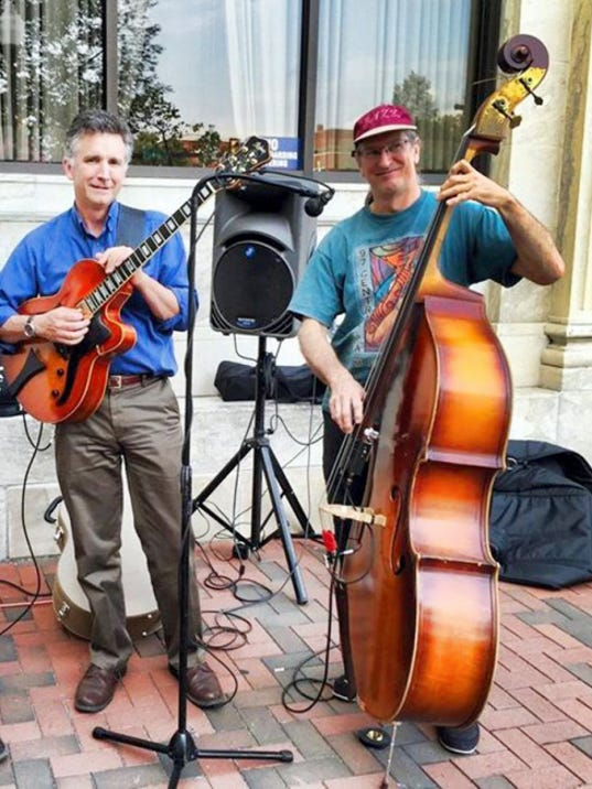 Ken Jankura, left, and Joe Dennison, will perform jazz selections along with Bob Jones from 2 to 4 p.m. June 21 on Waynesboro's Center Square.