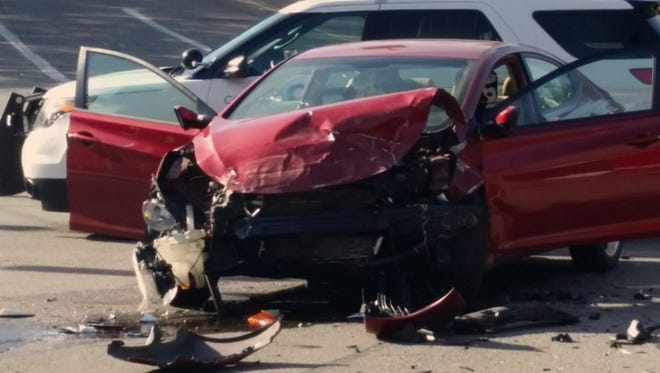 Cincinnati police say a pursuit led to a crash Monday afternoon in Cincinnati.