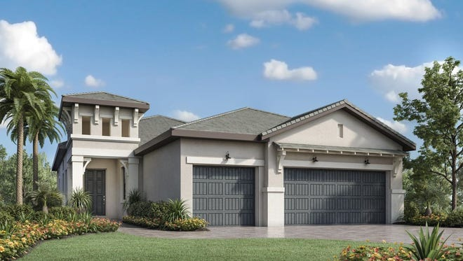 The popular Cayman floorplan is one of six luxury home designs available at Palazzo at Naples.
