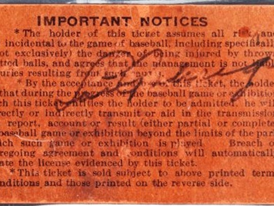 Gehrig ticket 1