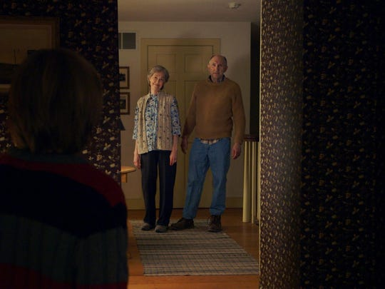 "Deanna Dunagan, background left, and Peter McRobbie star in ""The Visit."""