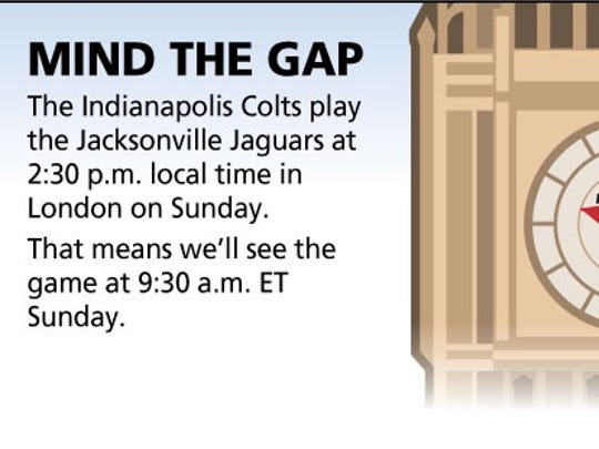 Colts face a big time change.