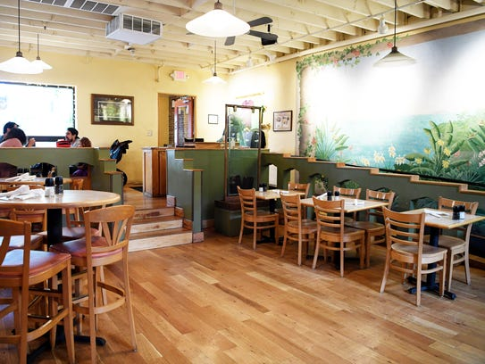 The Laughing Seed Café on Wall Street in Asheville