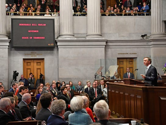 Governor Bill Haslam delivers his State of the State