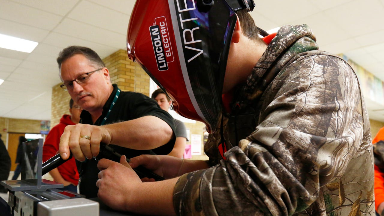 This winter high schoolers throughout central Wisconsin compete to see who has a steady hand and the best welding skills.