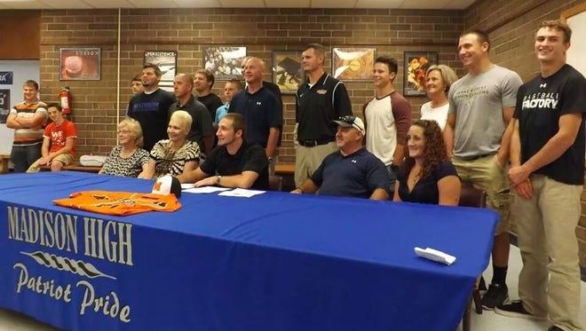 Madison senior Tyler Rogers has signed to play college baseball for Milligan (Tenn.).