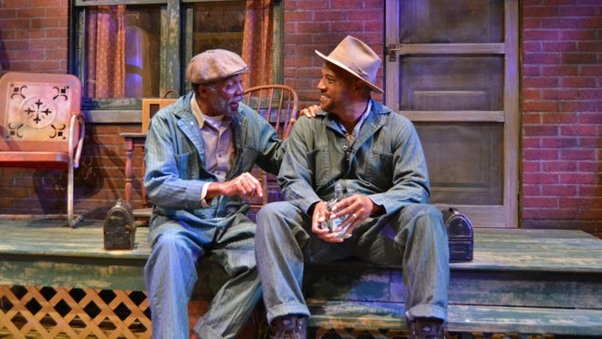 "John Archie (right) played Bono and Lester Purry portrayed Troy in Palm Beach Dramaworks' production of August Wilson's ""Fences."" The play has been nominated for five Carbonell Awards."