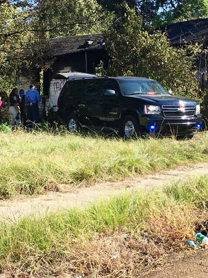 A body with a gunshot wound was found in a burning house in Jackson, Miss. on October 5, 2016.