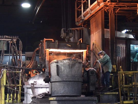 Neenah Foundry was one of the many factories that Mitchell visited during his four-year tour of Wisconsin.