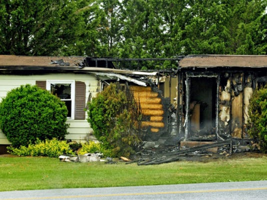 Fire destroyed a home early Tuesday morning at 11050 Koons Road, Washington Township. Markell DeLoatch - Public Opinion